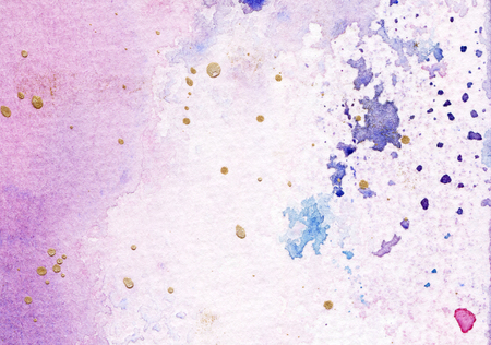 Abstract watercolor pink and blue background 版權商用圖片