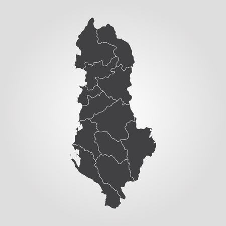 map of Albania illustration
