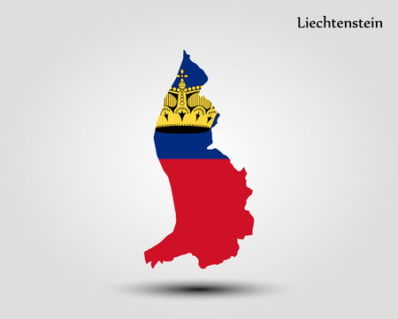 Map of Liechtenstein vector Illustration