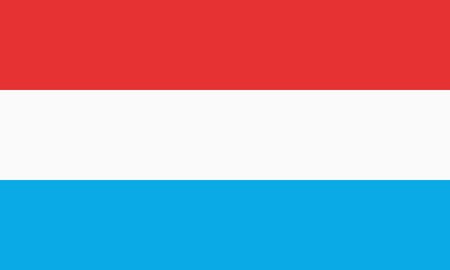 all european flags: Flag of Luxembourg vector Illustration