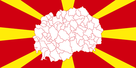 Map and flag of Macedonia Illustration