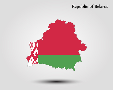 Map of Belarus vector