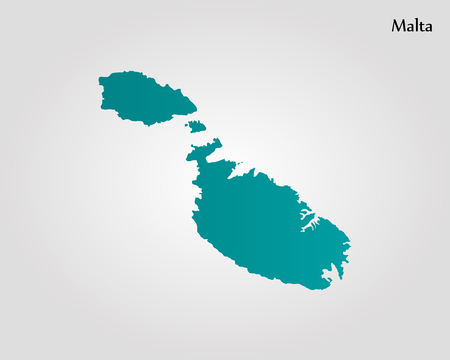 maltese map: Map of Malta vector