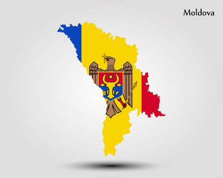 Map of Moldova vector