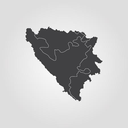Vector map - Bosnia & Herzegovina Illustration