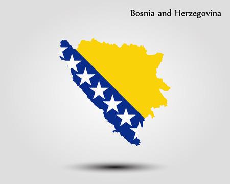Vector kaart - Bosnië-Herzegovina Stock Illustratie