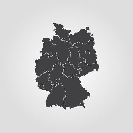 Map of Germany vector Stock Illustratie