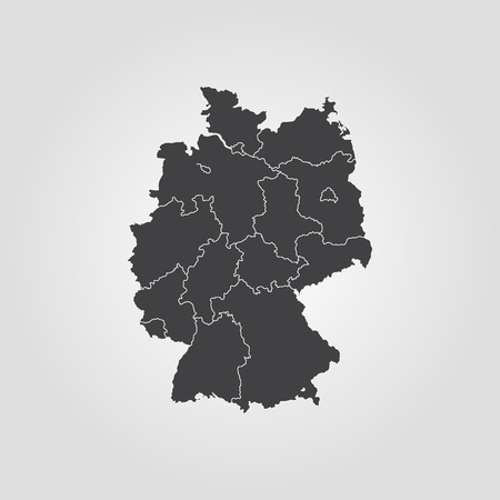 Map of Germany vector 矢量图像