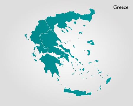 Kaart van Griekenland vector