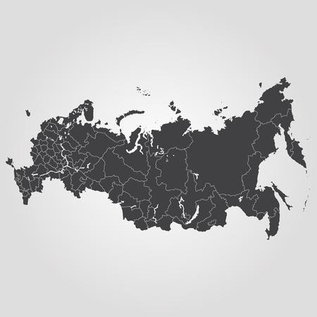 Map of Russia vector Stock Illustratie