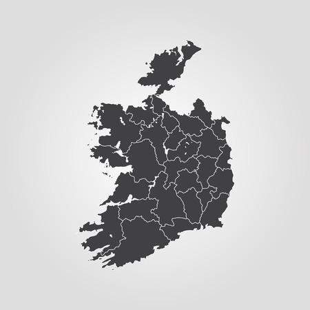 Map of Ireland vector
