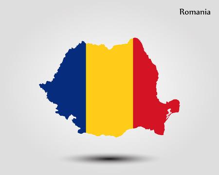 Map of Romania vector 矢量图像