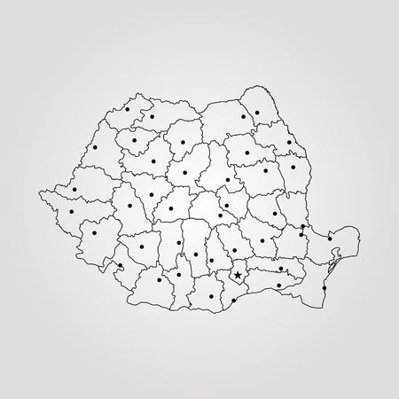 Map of Romania vector Illusztráció