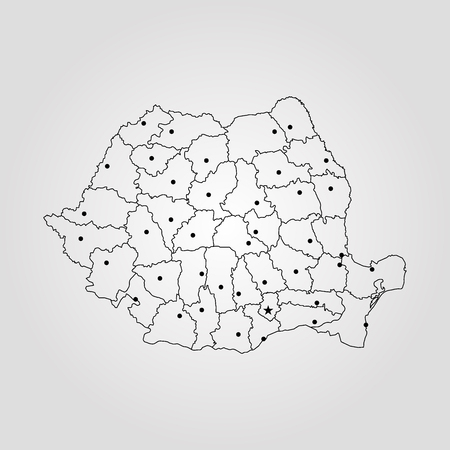 Map of Romania vector Illustration