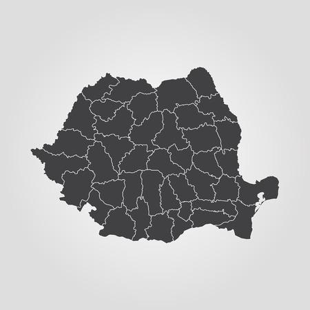 Carte du vecteur Roumanie Banque d'images - 82343658