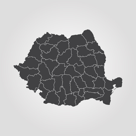 Map of Romania vector Иллюстрация