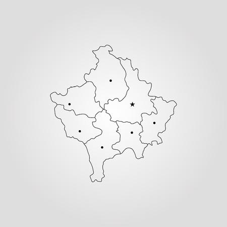 Map of Kosovo vector