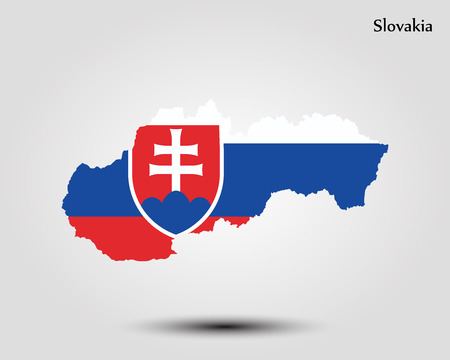 Map of Slovakia vector
