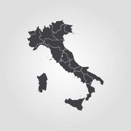 Map of Italy vector Ilustração