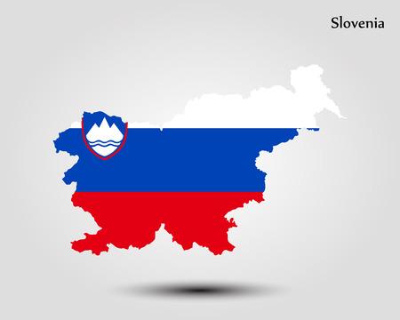 Map of Slovenia vector