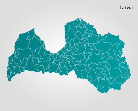 Map of Latvia vector Illustration