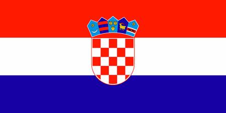 크로아티아의 국기 벡터 일러스트