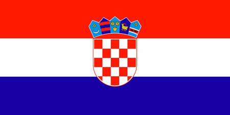 Bandera del vector de Croacia Foto de archivo - 82343745