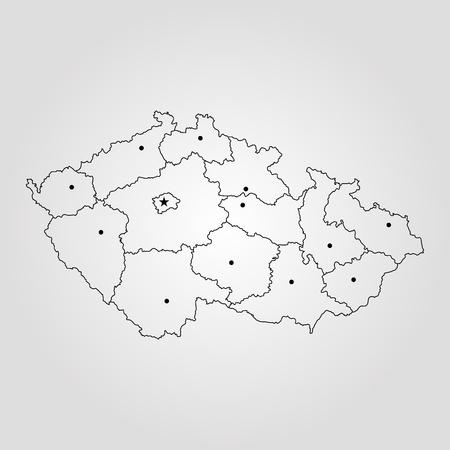 Map of Czech Republic 向量圖像