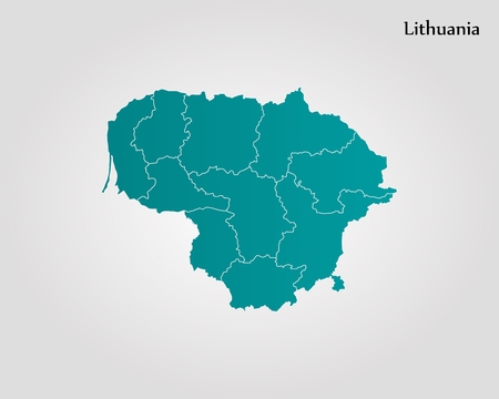 Map of Lithuania vector