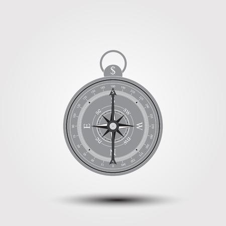 Kompas pictogram met dollarteken. Wereldbeurs. Voorraadafbeeldingen.
