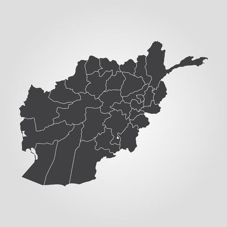 taliban: Map of Afghanistan. Vector illustration. World map Illustration