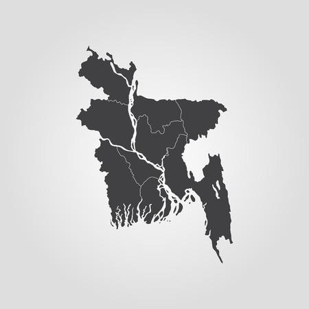 Map of Bangladesh. Vector illustration. World map