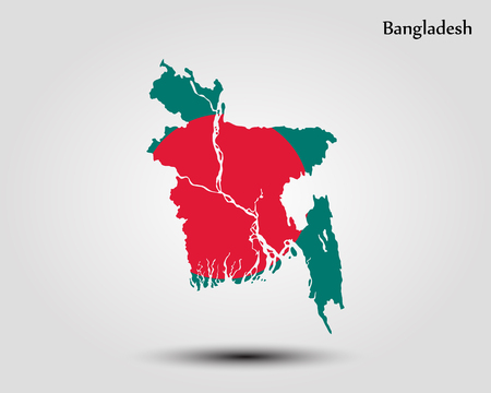 Map of Bangladesh. Vector illustration. World map