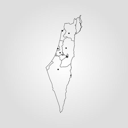 Israele Cartina Muta.Vettoriale Gerusalemme Israele Mappa Della Citta In Stile Retro Illustrazione Vettoriale Cartina Muta Image 92148327