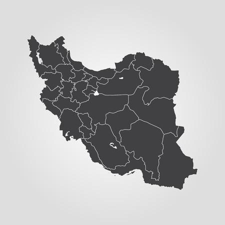 Map of Iran. Vector illustration. World map