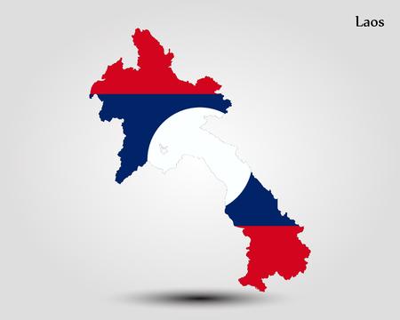 Map of Laos. Vector illustration. World map Illustration