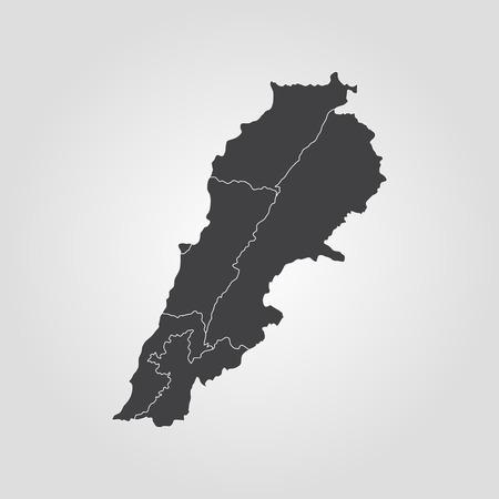 Mapa del Líbano Ilustración vectorial Mapa del mundo