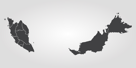 Map of Malaysia. Vector illustration. World map 일러스트