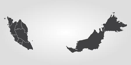 Map of Malaysia. Vector illustration. World map Illustration