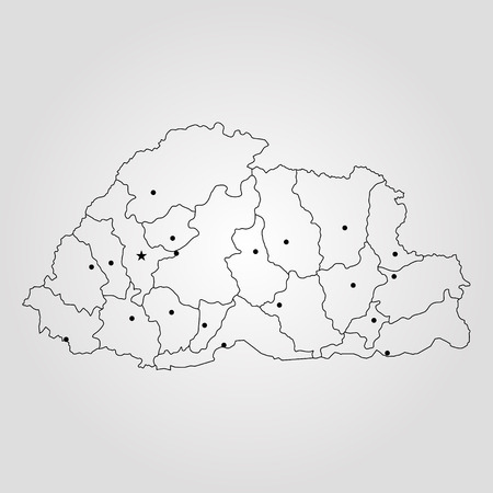 World Map Bhutan.Map Of Bhutan Vector Illustration World Map Royalty Free Cliparts