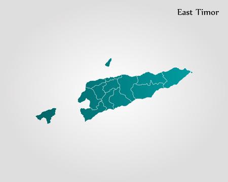 Map of East Timor. Vector illustration. World map