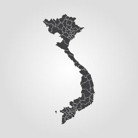 Map of Vietnam. Vector illustration. World map