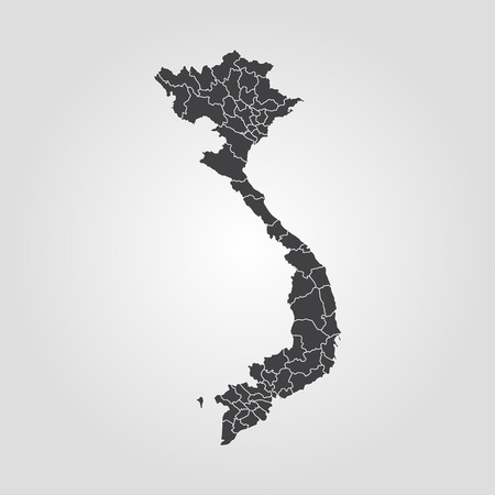 Map of Vietnam. Vector illustration. World map