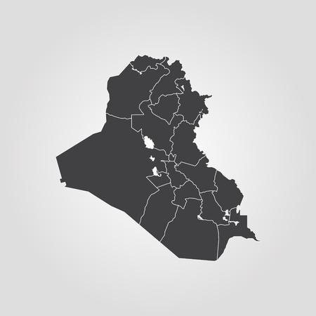 Kaart van Irak. Vector illustratie. Wereldkaart