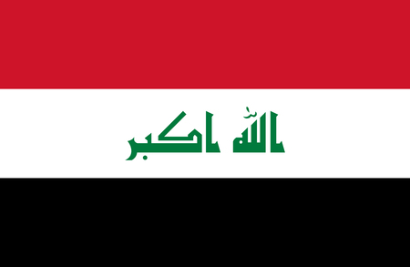 Iraq of Flag. Vector illustration. World flag Stock Vector - 89750727