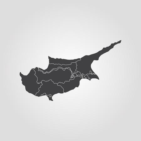 Map of Cyprus. Vector illustration. World map