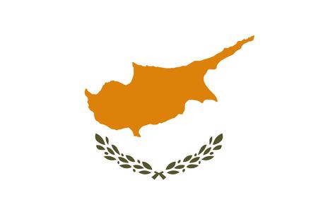 Flag of Cyprus Vector illustration. World flag Illustration