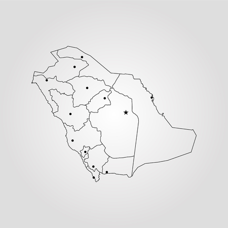 Map Of Saudi Arabia. Vector Illustration. World Map Royalty Free ...