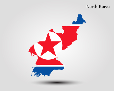 Map of North Korea. Vector illustration. World map Illustration