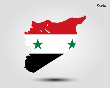 Map of Syria. Vector illustration. World map Illustration
